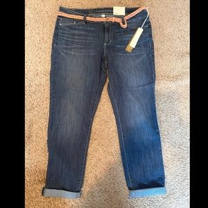 LC Lauren Conrad Cropped Jeans with belt - new!
